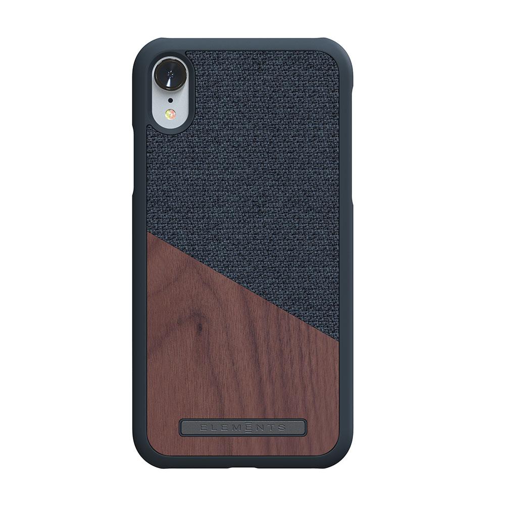 Nordic Elements Frejr Case iPhone Xr - Dark Grey/Walnut