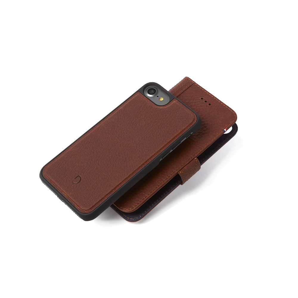 Afbeelding van Decoded 2 in 1 Wallet Case iPhone 8 / 7 6(s) Bruin