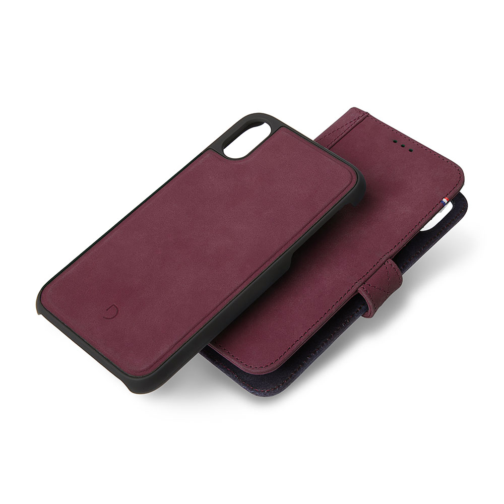 Afbeelding van Decoded 2 in 1 Wallet Case iPhone Xs / X Paars