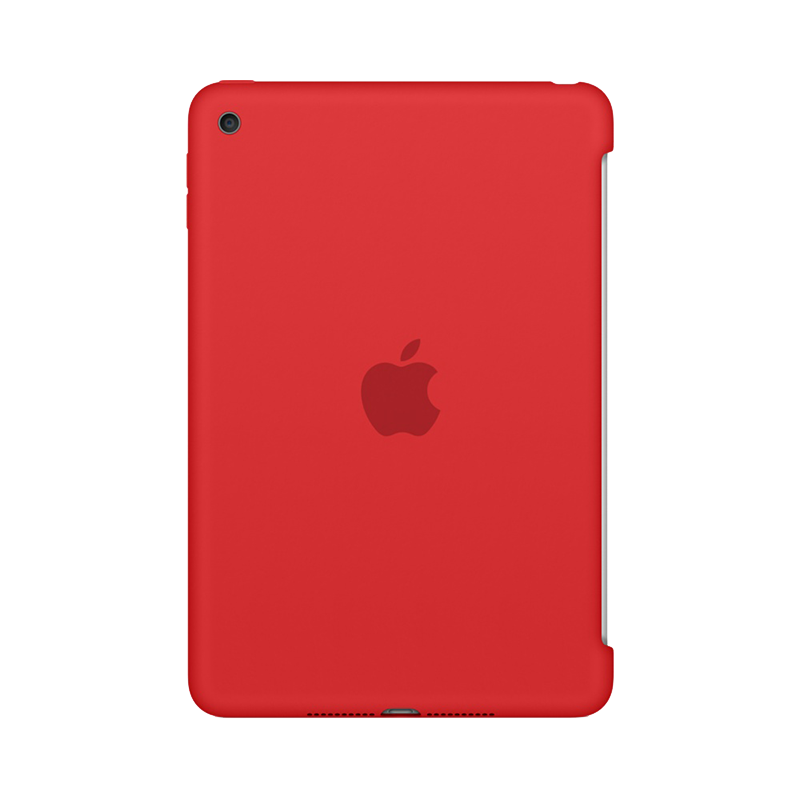 Apple iPad Mini 4 Siliconenhoes Rood