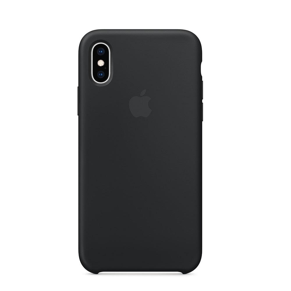 Apple Siliconenhoesje iPhone Xs Zwart