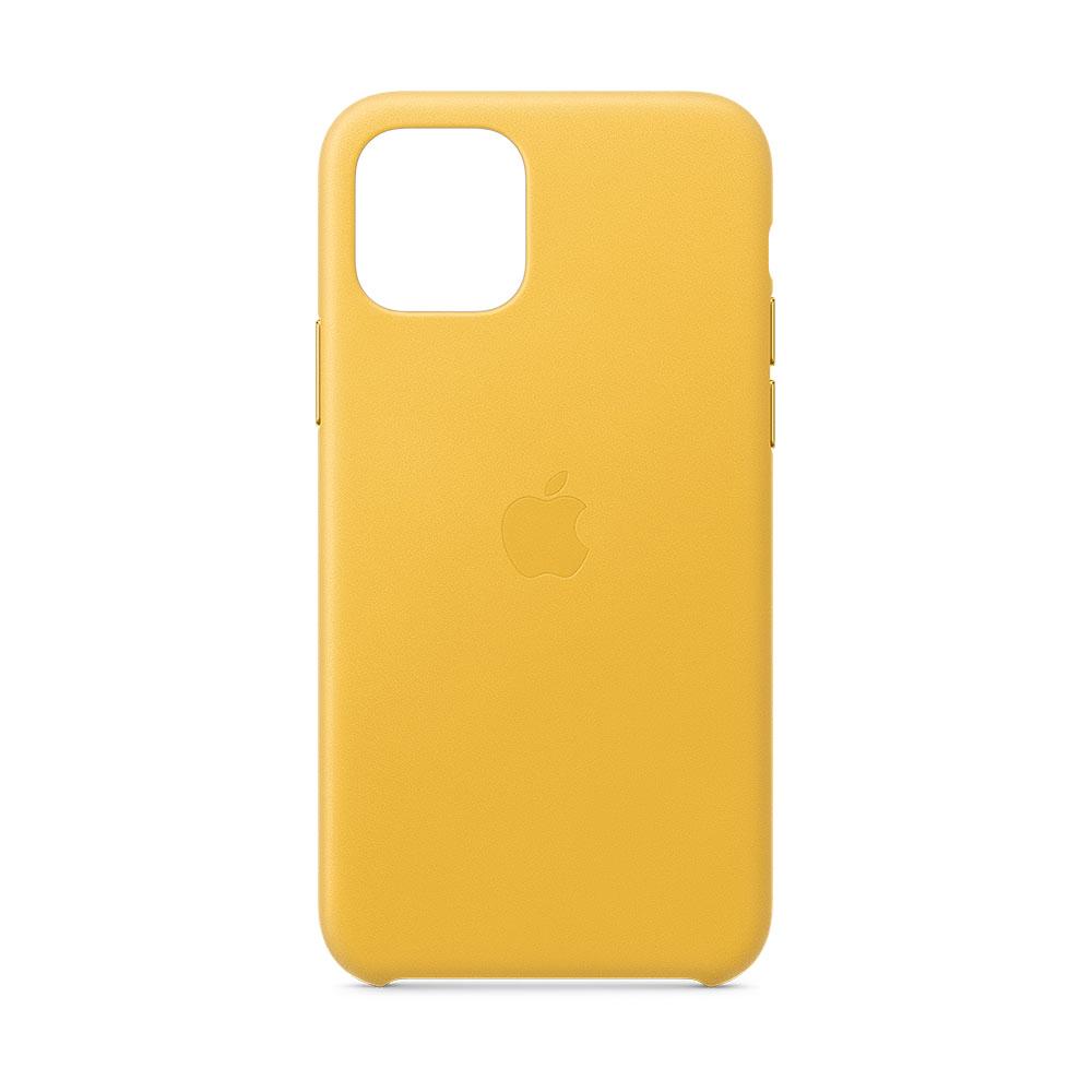 Apple Leren hoesje iPhone 11 Pro Donker citroen