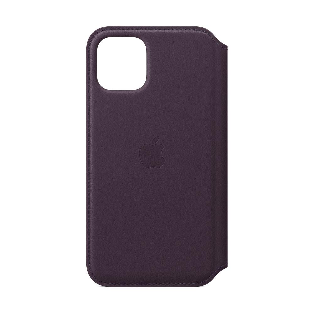Apple Leren Folio hoesje iPhone 11 Pro Aubergine