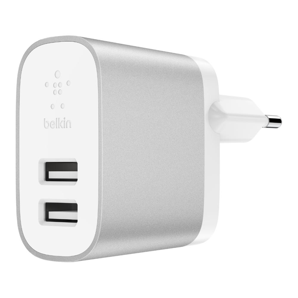 Afbeelding van Belkin 2x 12W dual USB lader voor thuis F7U049VFSLV