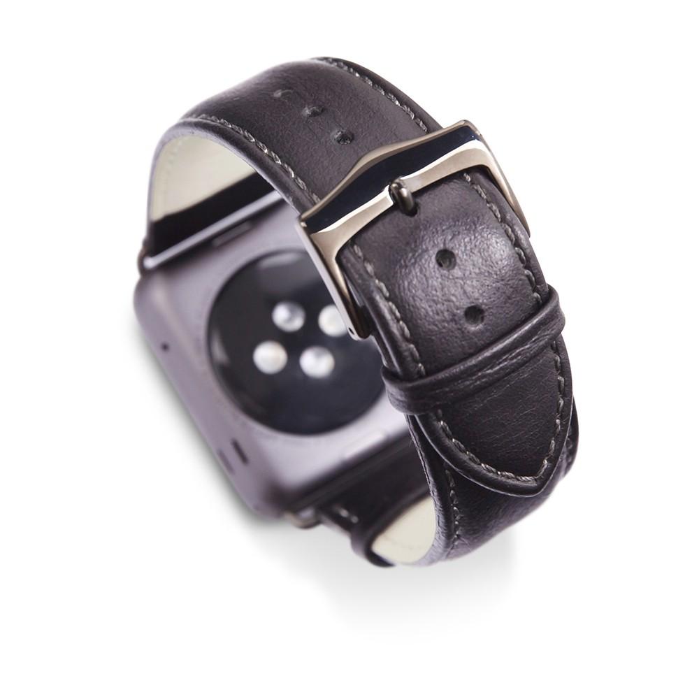 Afbeelding van Dbramante Copenhagen Watch Strap 38mm / 40mm Black Band with Spacegray Buckle