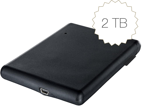 Mobile Drive XXS 2TB HDD USB 3.0 56334