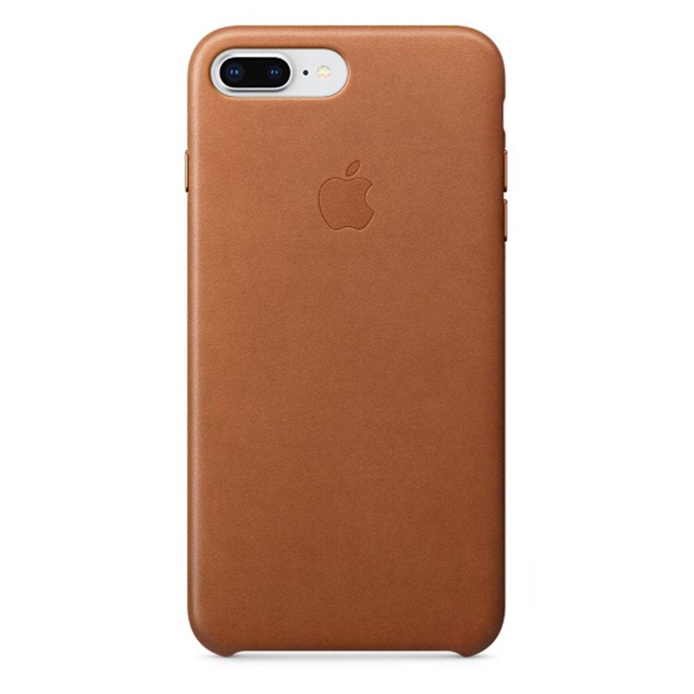 Apple Leren hoesje iPhone 8 Plus 7 Plus Zadelbruin